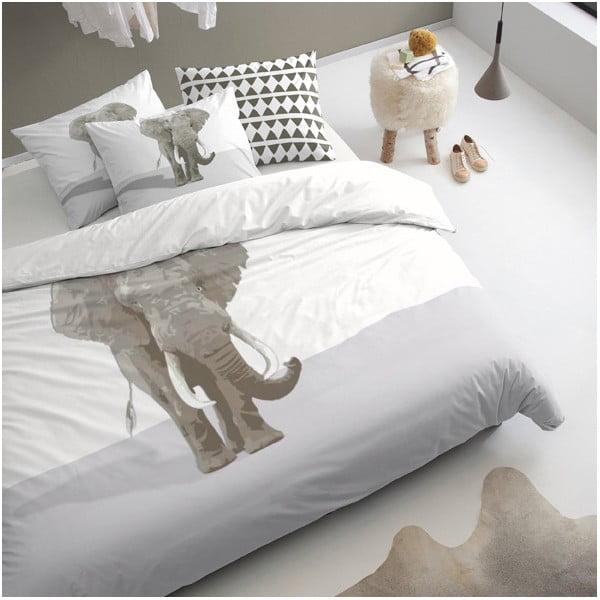 Obliečky na posteľ pre jedného Riese Khaki, 140x200 cm