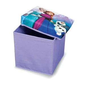 Fialová úložná taburetka na hračky Domopak Frozen, dĺžka30 cm