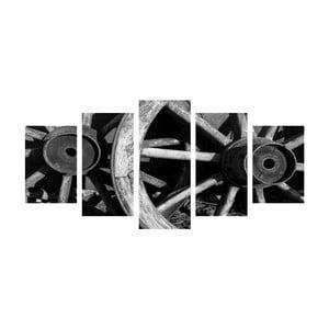 Viacdielny obraz Black&White Wheels