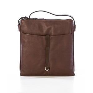 Hnedá kožená kabelka Gianni Conti Acca