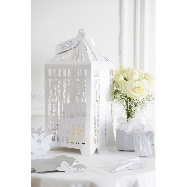 Schránka na svadobné karty s blahoželaním Birdcage