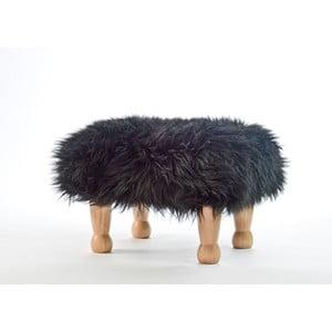 Stolička z ovčej kože Angharad Coal Black