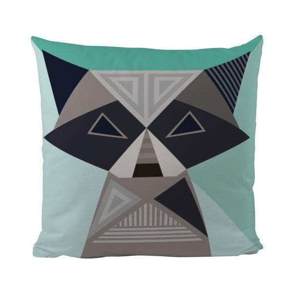 Vankúš Geometric Raccoon, 50x50 cm