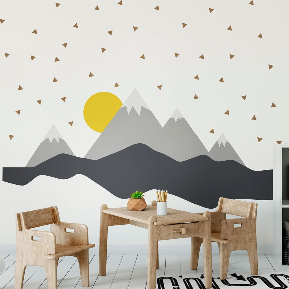 Nástenná samolepka Ambiance Giant Kid Sticker Scandinavian Mountains Nordika