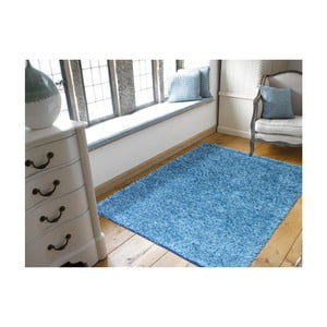 Modrý koberec Webtappeti Shaggy, 120 x 170 cm