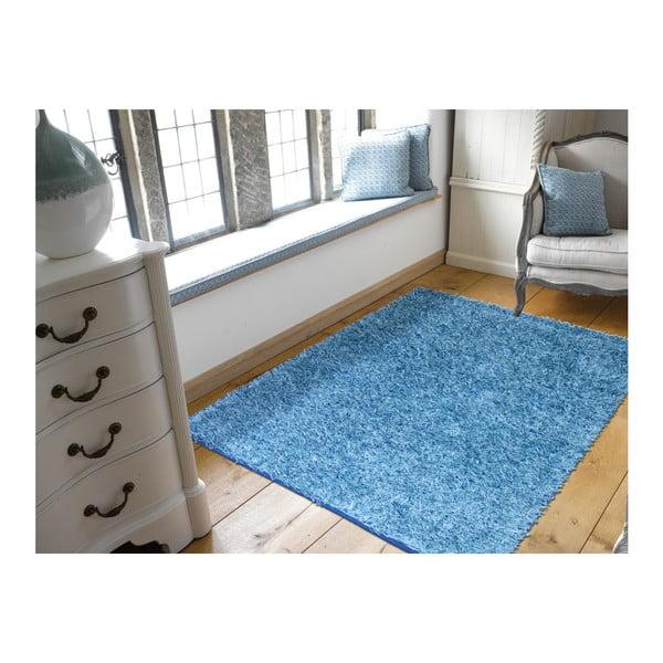 Modrý koberec Webtappeti Shaggy, 60 x 100 cm