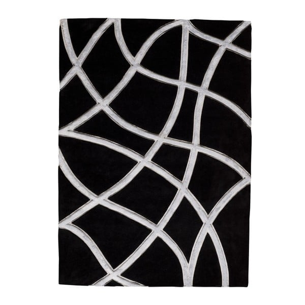 Koberec Echo Black, 140x200 cm