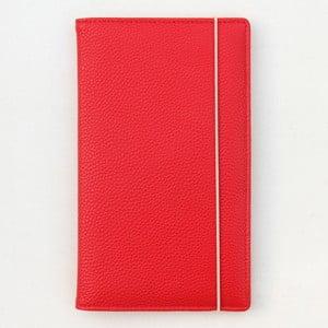 Červené puzdro na pas a dokumenty Caroline Gardner