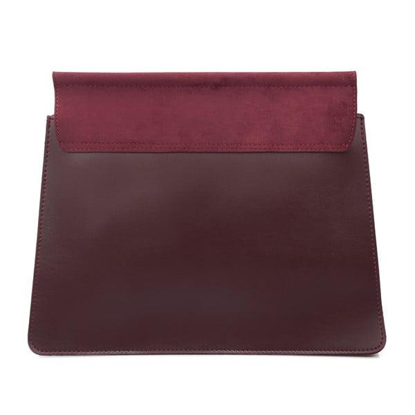 Tmavočervená kabelka z eko kože Beverly Hills Polo Club Sylvia