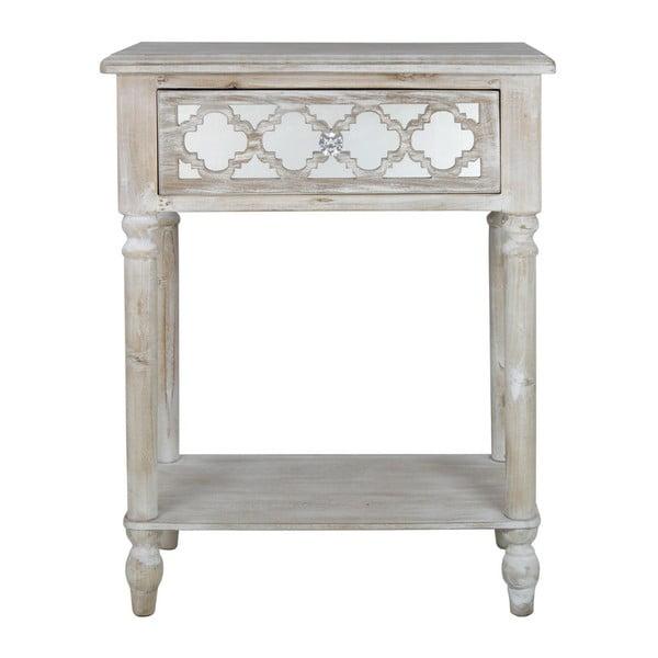 Príručný stolík so zásuvkou CIMC Hampton Ash and Mirror