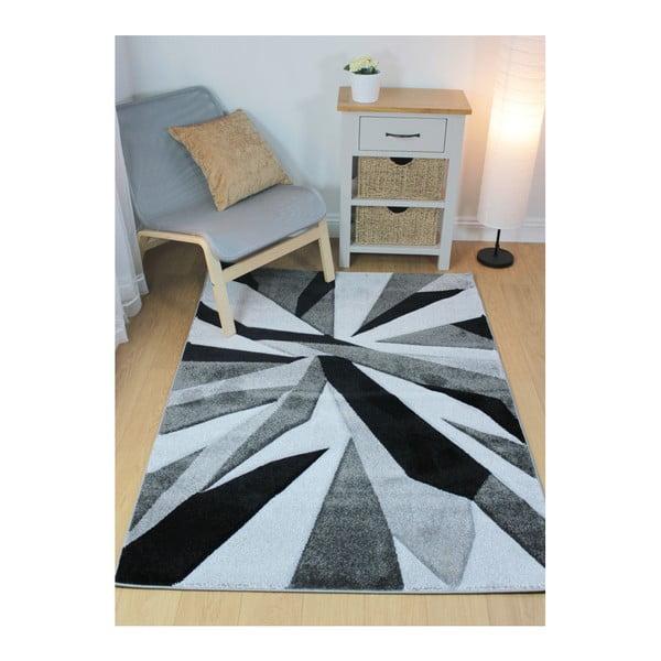 Čierno-sivý koberec Flair Rugs Shatter Black Grey, 120×170cm