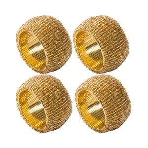 Sada 4 zlatých krúžkov na servítky Creative Tops Christmas
