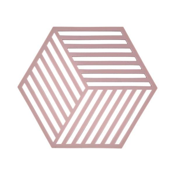 Podložka pod hordúce Hexagon, staroružová