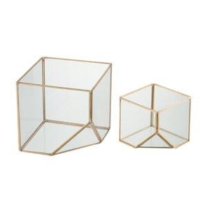 Sada 2 svietnikov Cube, výška 10 a 16 cm