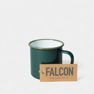 Tmavozelený smaltovaný hrnček Falcon Enamelware, 350 ml