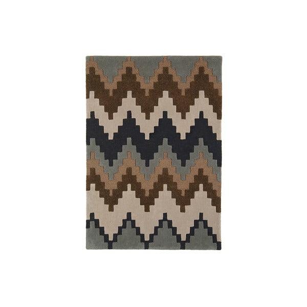 Vlnený koberec Matrix Cuzo Chocolate, 80x150 cm