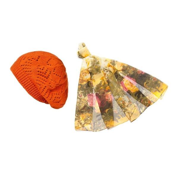 Čiapka so šatkou Orange and Yellow