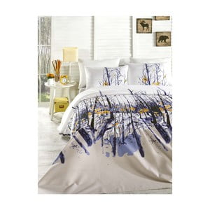 Prikrývka cez posteľ na dvojlôžko s obliečky na vankúše a plachtou Autumn, 200×235 cm