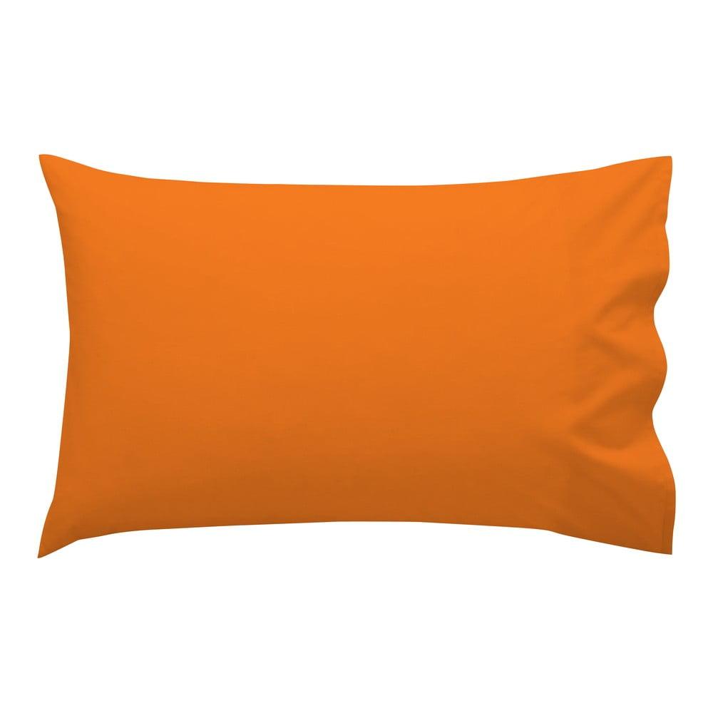 Oranžová obliečka na vankúš HF Living Basic, 50 × 30 cm