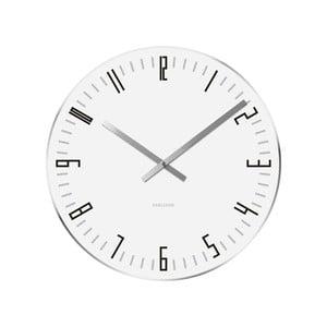 Biele hodiny Present Time Slim