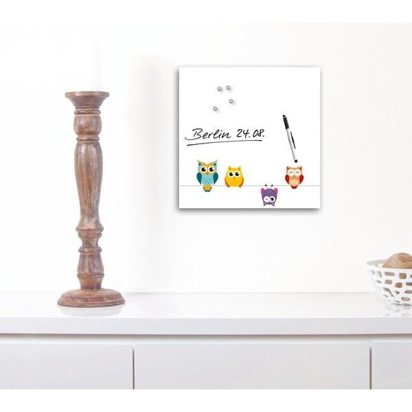 Magnetická tabuľa Eurographics Funny Owls, 30 x 30 cm