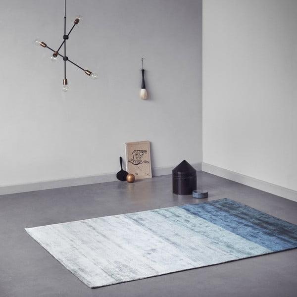 Ručne tkaný koberec Linie Design Shiny Petrol, 170x240cm