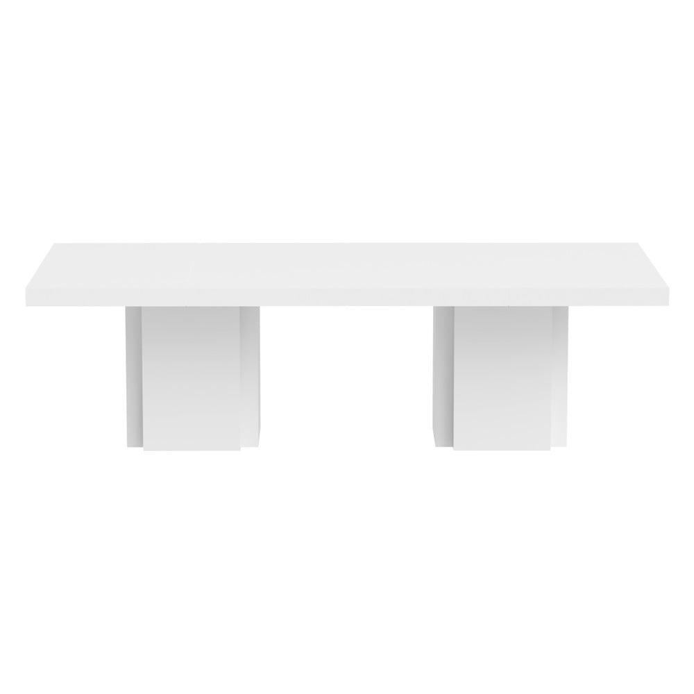 Lesklý biely jedálenský stôl TemaHome Dusk 002