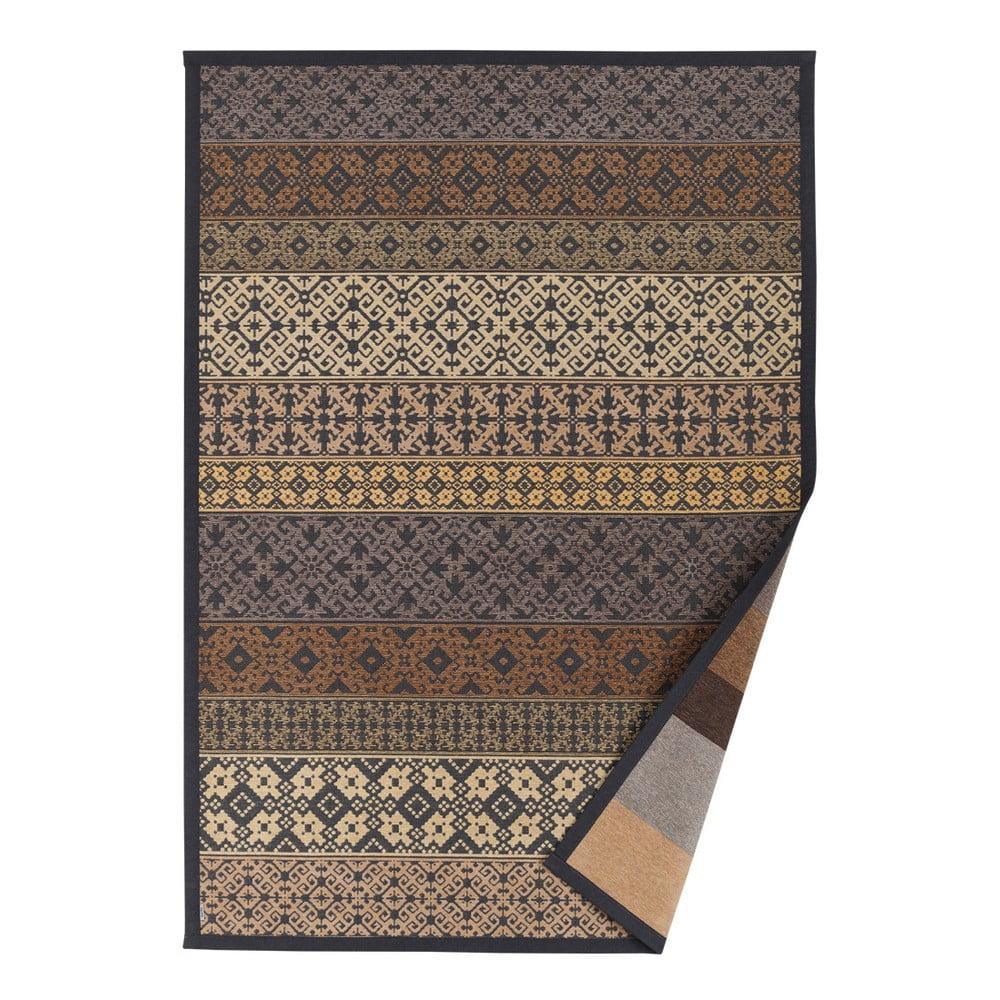 Béžový vzorovaný obojstranný koberec Narma Tidriku, 70 × 140 cm