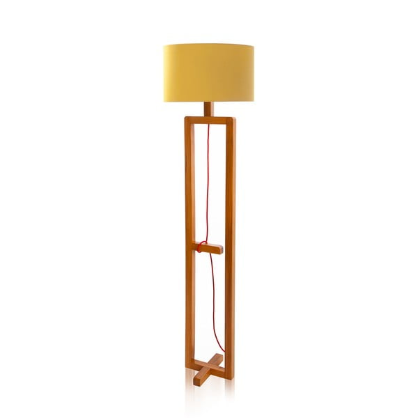 Stojacia lampa Dal Yellow Walnut