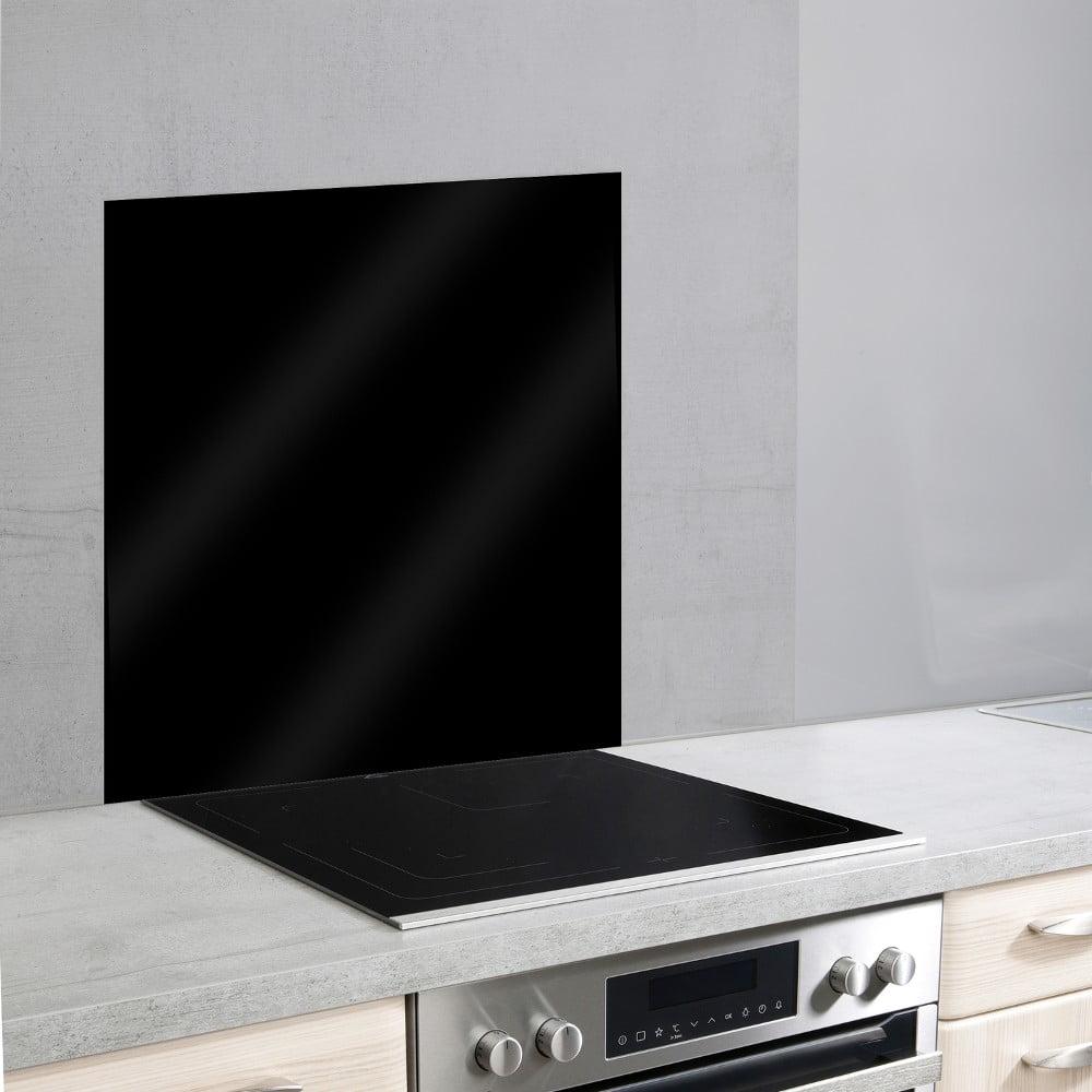 Čierny sklenený kryt na stenu pri sporáku Wenko, 70 × 60 cm