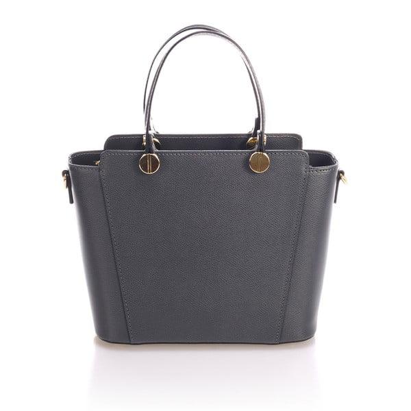 Sivá kožená kabelka Giulia Massari Karina