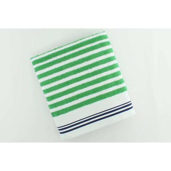 Bavlnená osuška BHPC White 80x150 cm, zelená