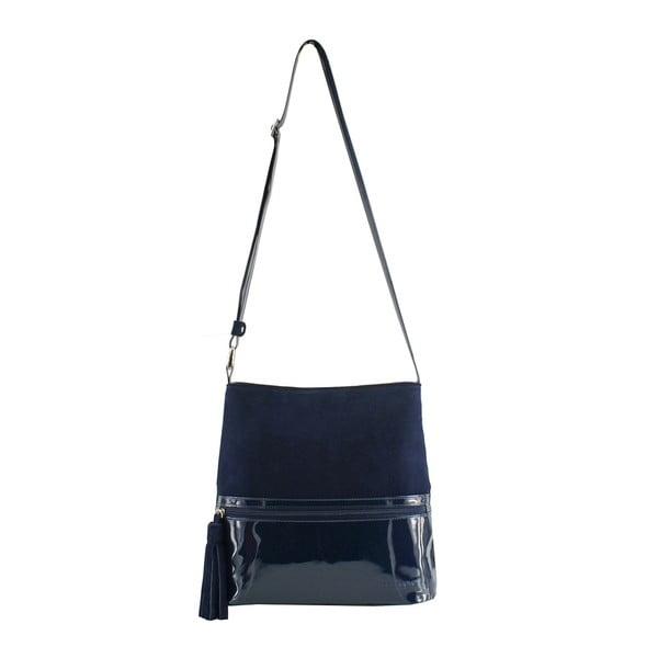 Kožená kabelka Boscollo Blue 3286