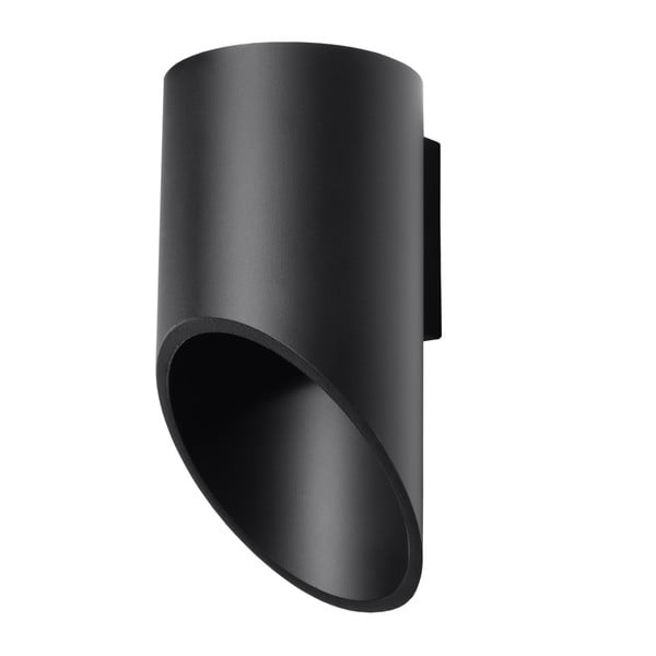 Čierne nástenné svetlo Nice Lamps Nixon, dĺžka 20 cm