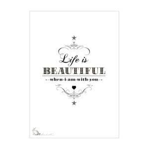 Plagát Life Is Beautiful, 30x40 cm