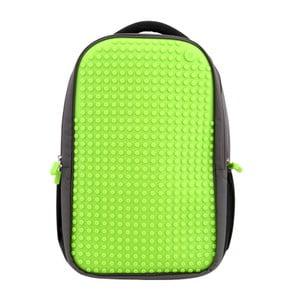 Študentský batoh Pixelbag grey/green