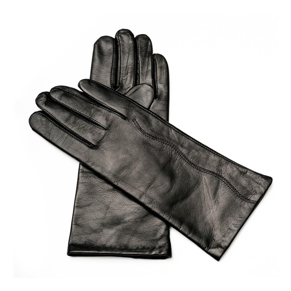 Dámske čierne kožené rukavice Pride   Dignity Paris 8867f6236a