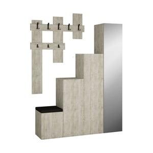 Set sivej skrine a nástenného vešiaka Homitis Up