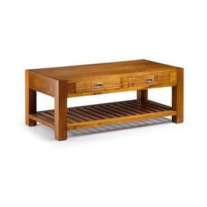 Konferenčný stolík z dreva bieleho cédra Moycor Star Coffee, dĺžka 120 cm