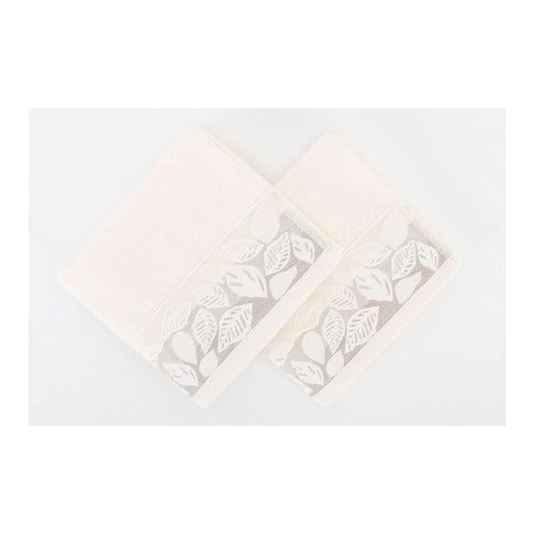 Sada 2 uterákov Floras Cream, 50x90 cm