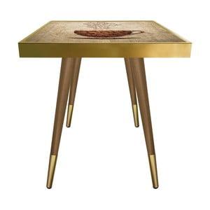 Príručný stolík Caresso Coffee Cup Square, 45 × 45 cm