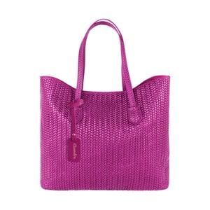 Fuksiová kožená kabelka Maison Bag Ginnie