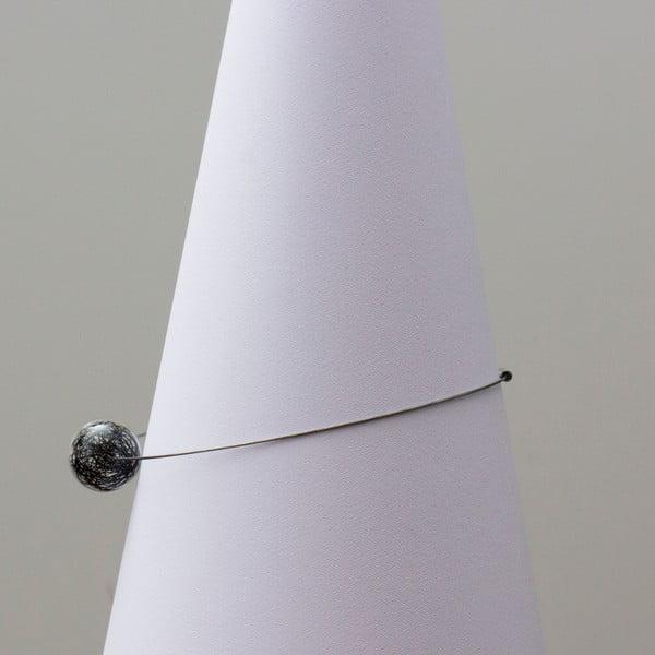 Sklenený náhrdelník ko-ra-le Wired, čierny