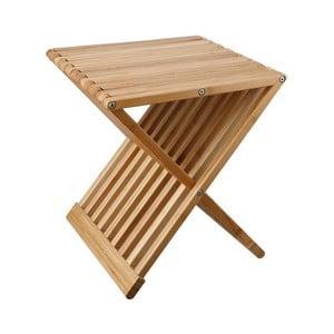 Skladací odkladací stolík/stolička z bambusu Tomasucci Tiger