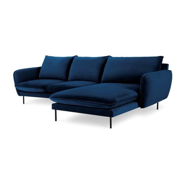 Modrá rohová pohovka Cosmopolitan Design Vienna, pravý roh