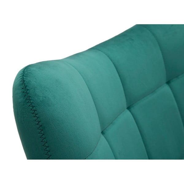 Smaragdovo-zelené kreslo so železnými nohami zlatej farby Mauro Ferretti Onnimus