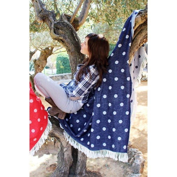 Deka Sevilla Plaid Navy Blue, 140x180 cm