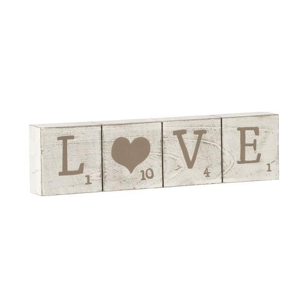 Dekoratívne kocky s nápisom Love