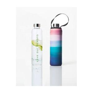 Cestovná termofľaša z borosilikátového skla s obalom BBBYO Peace, 750 ml