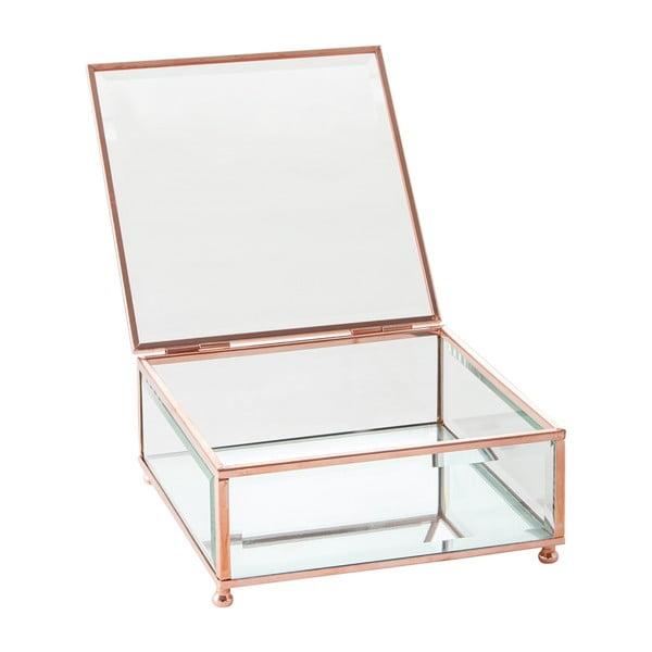 Šperkovnica J-Line Jewel Glass, 15x15 cm